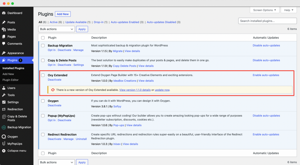 Update Plugins from the WP - Admin >> Plugins